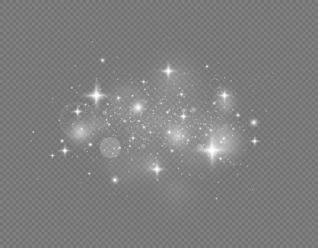 Partículas de poeira mágica cintilantes efeito de luz brilhante