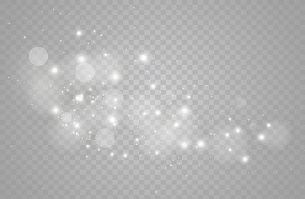 Partículas de poeira mágica cintilantes