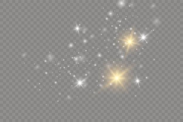 Partículas de poeira mágica cintilantes.