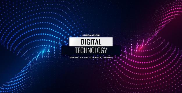 Partículas digitais fluindo design de fundo