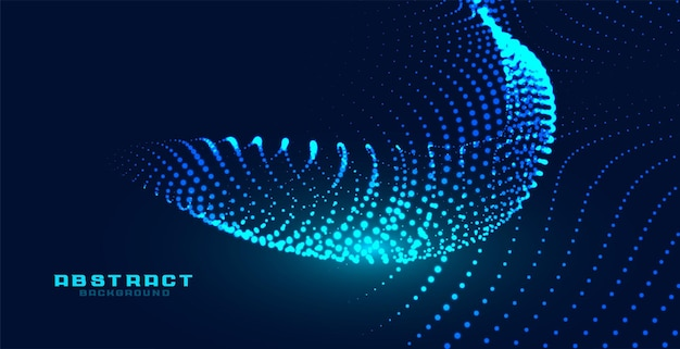 Partículas dinâmicas de fundo brilhante com efeito de onda