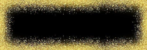 Partículas douradas brilhantes de vetor em fundo transparente isolado partícula de brilho de efeito cintilante
