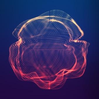 Partículas fazendo uma forma abstrata