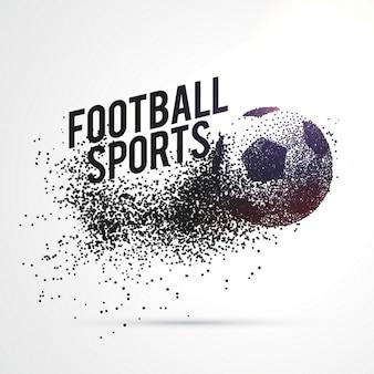 Partículas que formam o futebol de forma esportes fundo