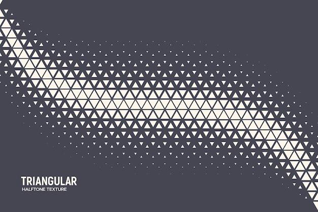 Partículas triangulares de meio-tom geométrica curva de oscilação de fundo abstrato