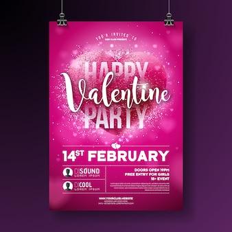 Partido do dia dos namorados panfletos