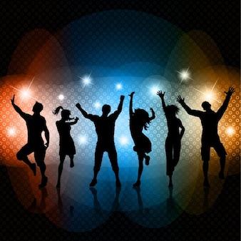 Partido silhuetas dança