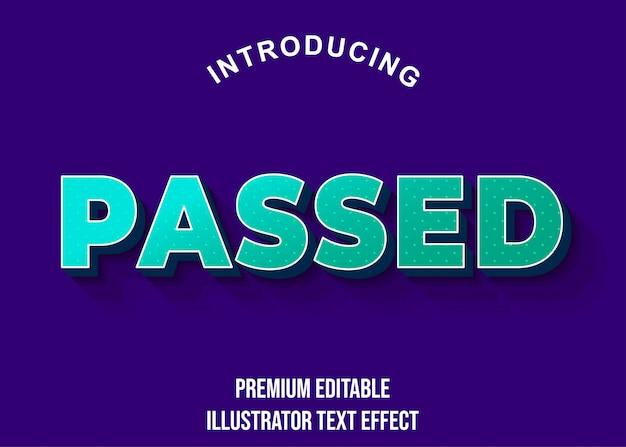 Passado - estilo de fonte 3d light green text effect