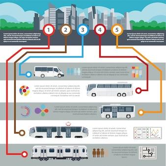 Passageiro de vetor de transporte de cidade pública