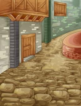 Passagem de pedra.