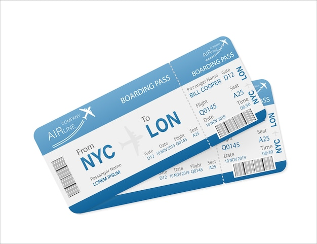Passagens aéreas em papel. template. o negócio . .