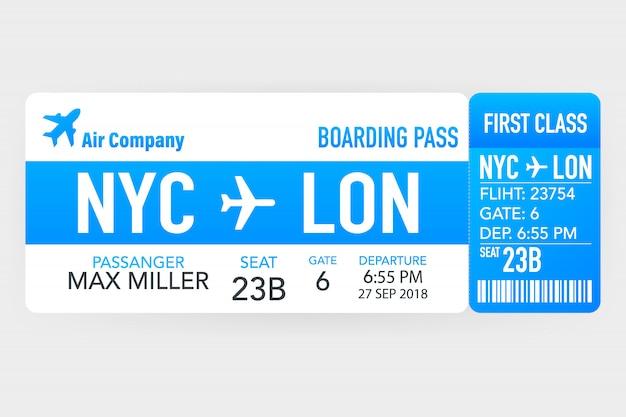 Passagens aéreas ou cartão de embarque dentro do envelope de serviço especial.