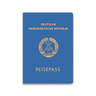 Passaporte da capa da alemanha oriental