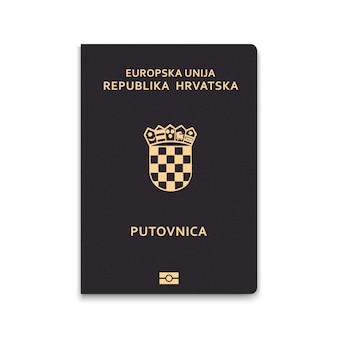 Passaporte da capa da croácia