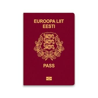 Passaporte da capa da estônia