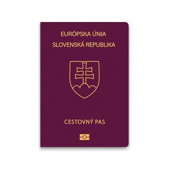 Passaporte de capa da eslováquia