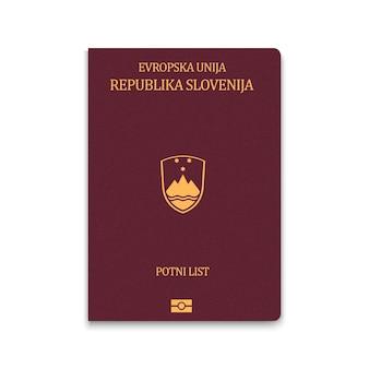 Passaporte de capa da eslovênia