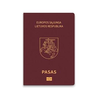 Passaporte de capa da lituânia