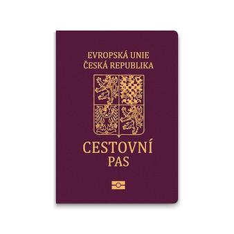 Passaporte de capa da república tcheca