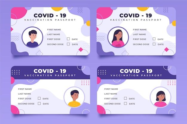 Passaporte de vacinação de design plano