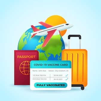 Passaporte de vacinação gradiente para viagens