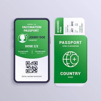Passaporte de vacinação gradiente
