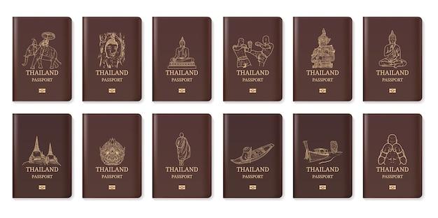 Passaporte de viagem da tailândia