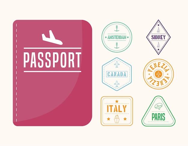 Passaporte e carimbos internacionais