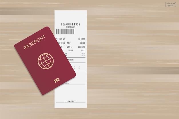 Passaporte e cartão de embarque