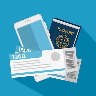 Passaporte e passagens aéreas