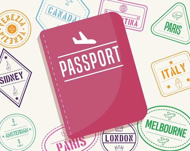 Passaporte e selos internacionais