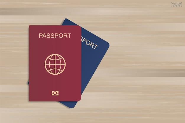 Passaporte em madeira.