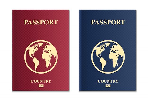 Passaportes com mapa do globo