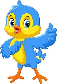 Pássaro de fanny dos desenhos animados