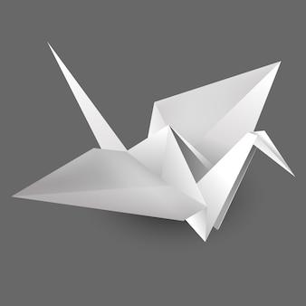 Pássaro de papel origami