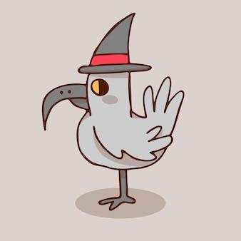 Pássaro do dia das bruxas