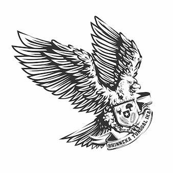 Pássaro garuda desenhado à mão
