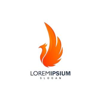 Pássaro logotipo design ilustração