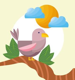 Pássaro no galho