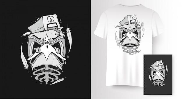 Pássaro para impressão de t-shirt