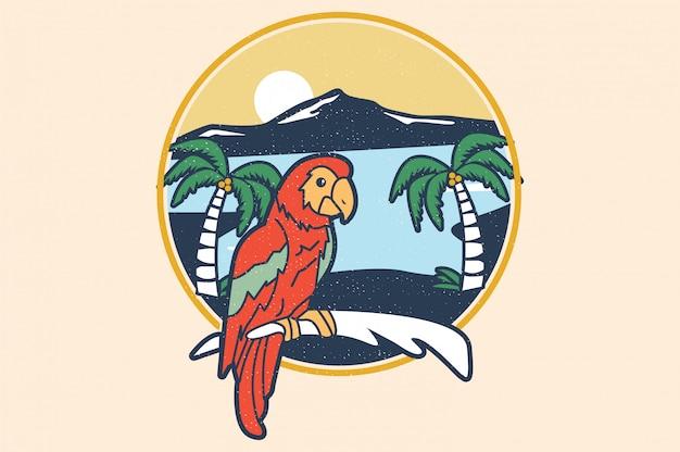 Pássaro tropical do verão do tucano