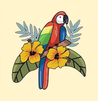 Pássaro tropical do verão