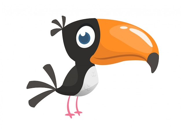 Pássaro tucan dos desenhos animados