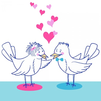 Pássaros apaixonados