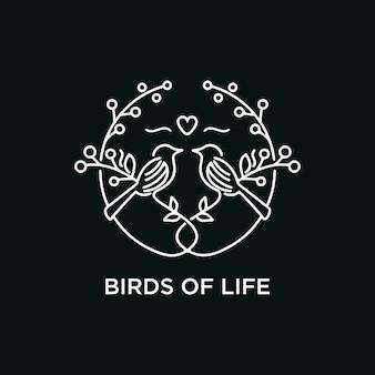 Pássaros da linha de vida arte