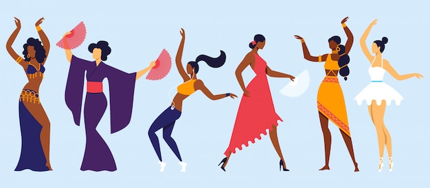 Passatempo de dança tradicional, clássico e moderno.