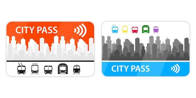 Passe da cidade. bilhete de bonde, bonde, metrô, ônibus, trem com sistema de pagamento sem dinheiro. pagamento de tarifa