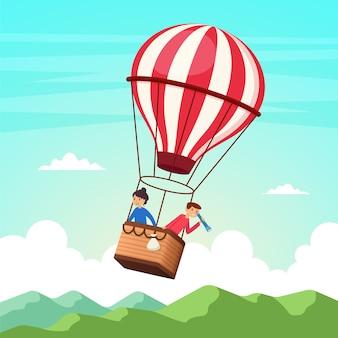 Passeio de balão de ar quente