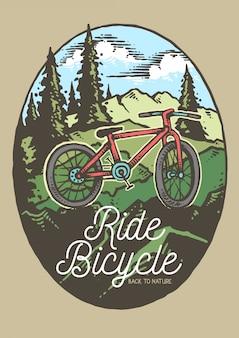 Passeio de bicicleta mountain