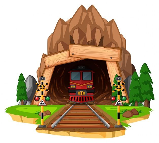 Passeio na pista através do túnel
